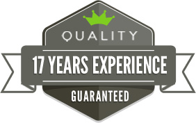 Quality 17 Years Experience Guaranteed